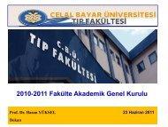 Slayt 1 - Tıp Fakültesi - Celal Bayar Üniversitesi