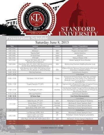 Symposium 2013 - Kinesio Taping
