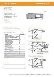 DC/DC Systeme www.franke-iv.de - FIV Franke Industrievertretungen