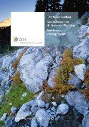 Tax & Accounting Superannuation & Financial ... - CCH Australia