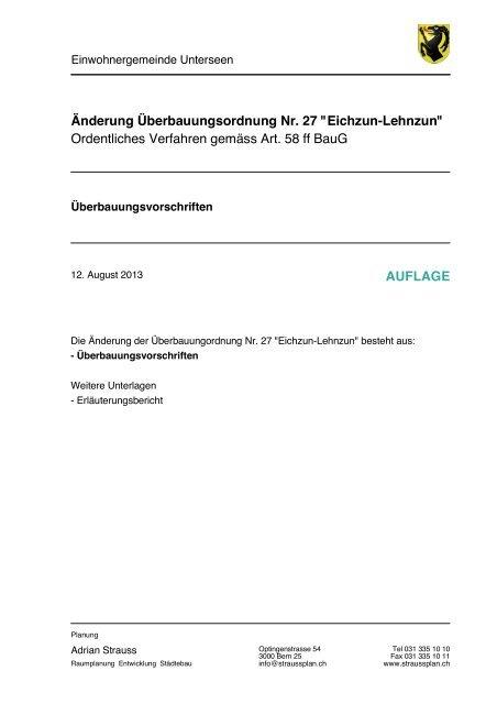 130813 Ue V AEnderung Eichzun-Lehnzun - Unterseen