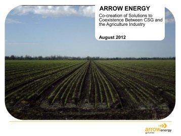Arrow Energy Coexistence