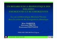 UN REGARD SUR LA BIOPOLITIQUE DES ... - INRA Montpellier