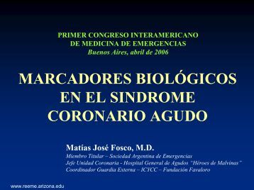 marcadores biológicos en el sindrome coronario agudo