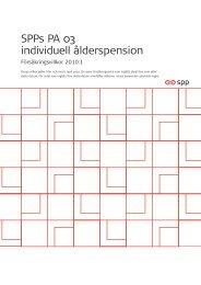 SPPs försäkringsvillkor för PA03, gäller till och med 2010-12-31