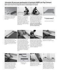 Istruzioni di posa per pavimento in laminato HARO con Top Connect