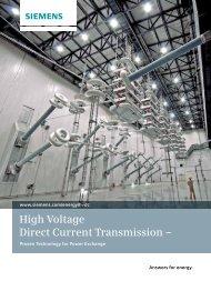 High Voltage Direct Current Transmission – - Siemens