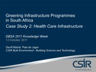 Greening Infrastructure Programmes in South Africa Case Study 2 ...
