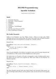DELPHI-Programmierung: Spezielle Techniken