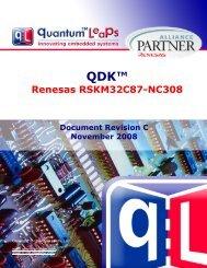 QDK Renesas RSKM32C87-NC308 - Quantum Leaps