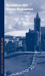 Alumni Biographies - Syracuse University College of Law