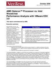 AMD Opteron™ Processor vs. Intel Woodcrest Performance Analysis ...