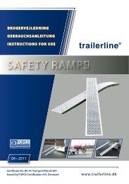 Bedienungsanleitung für Sicherheits-Auffahrrampen - ratioparts