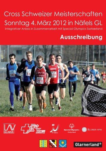 Cross Schweizer Meisterschaften Sonntag 4. März 2012 in Näfels GL