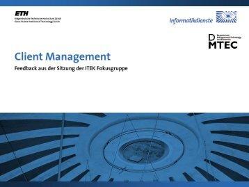 Client Management - ITEK