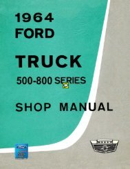1964 Ford Truck Shop Manual (500-800 Series) - ForelPublishing.com