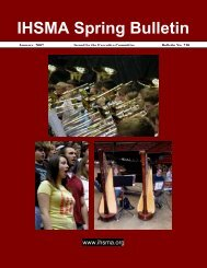 Spring Bulletin No. 230 - January 2007 - The Iowa High School ...