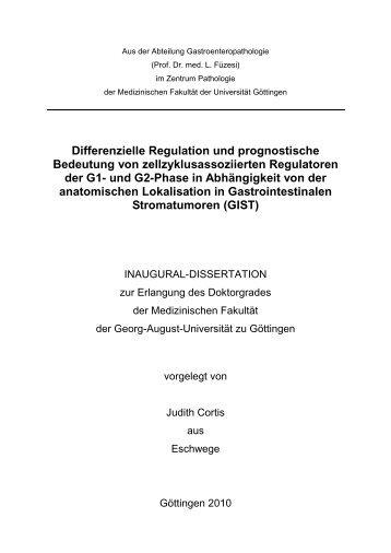 Differenzielle Regulation und prognostische Bedeutung von ...