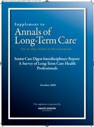 Senior Care Digest Interdisciplinary Report - Annals of Long Term ...