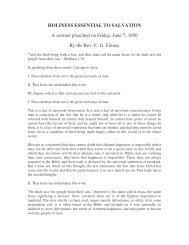 Holiness Essential to Salvation - PinPoint Evangelism