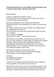 Lees hier de toespraak. - Provincie Drenthe