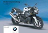 Bedienungsanleitung K 1200 R - BMW-K-Forum.de