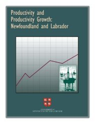 Productivity and Productivity Growth: Newfoundland and Labrador