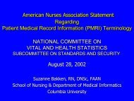Suzanne Bakken - National Committee on Vital and Health Statistics