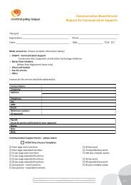 CBS Request Form for Development of Communication Support