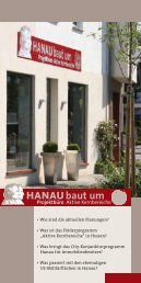 Flyer Projektbüroeröffnung - Hanau baut um