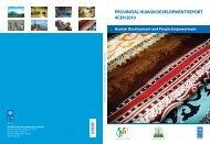 PROVINCIAL HUMAN DEVELOPMENT REPORT ACEH 2010 - UNDP