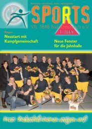 sports 1/2009 - VfL 1848 Bad Kreuznach eV