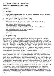 Ablauf und Texte - Frauenseelsorge München