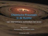 Chemische Processen in de Ruimte