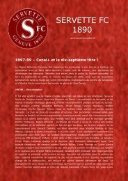 Canal+ et le dix-septième titre! - Super Servette