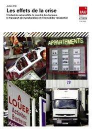 Les effets de la crise sur l'industrie automobile – Mai 2009 - IAU îdF