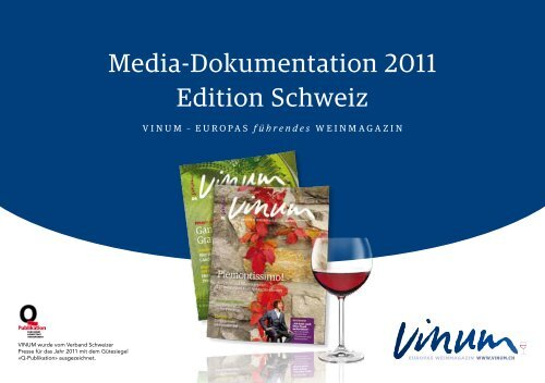 Media-Dokumentation 2011 Edition Schweiz
