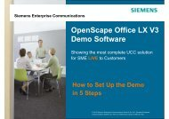 How to set up OpenScape Office LX Demo - Siemens Enterprise ...