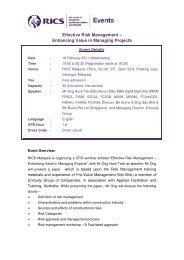 Effective Risk Management – Enhancing Value in ... - RICS ASIA