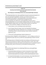 Handwerksordnung nebst Anlagen A und B - MeineSelbstaendigkeit ...