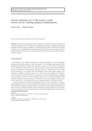 Formal verification of a C-like memory model and its uses for ...