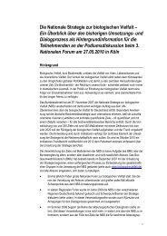 Die Nationale Strategie zur biologischen Vielfalt – Ein Überblick ...