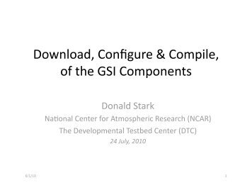 Download, Configure & Compile, of the GSI Components