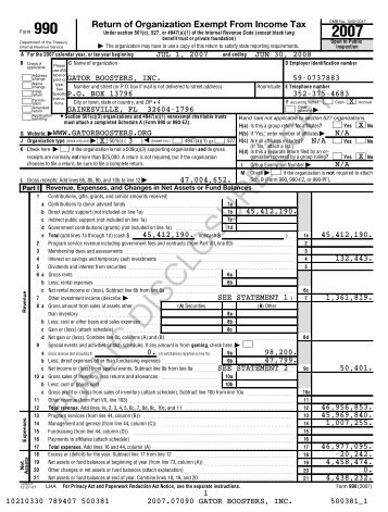 Irs Form 990 2007 Greater Worcester Community Foundation