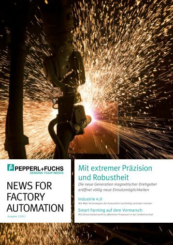 news for factory automation (pdf; 2,44 mb) - Pepperl+Fuchs