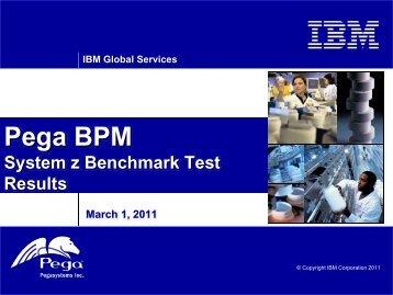 Pega BPM System z Benchmark Test Results