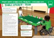 table cricket - tc20 - School Games