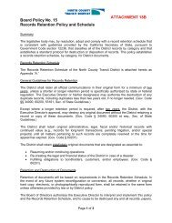 Board Policy No. 15 Records Retention Policy and Schedule ...