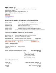 MASTER SCHEDULE CONGRESS May 20 - College of Arts and ...