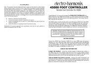 Instructions (PDF) - Electro-Harmonix